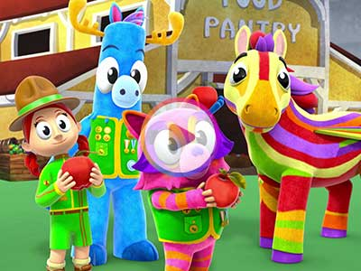 Watch a Sneak Peek of the Feeding Rainbow Episode of Mack and Moxy!